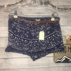 Forever 21 Printed Shorts w/ Belt